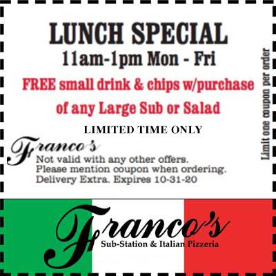coupon for lunch special