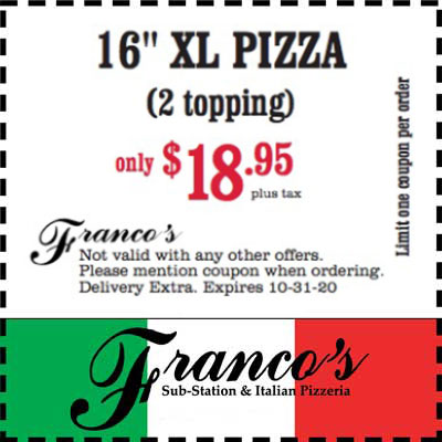 coupon for 16 inch xl pizza