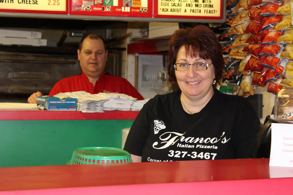 Owners of Franco's Pizzeria